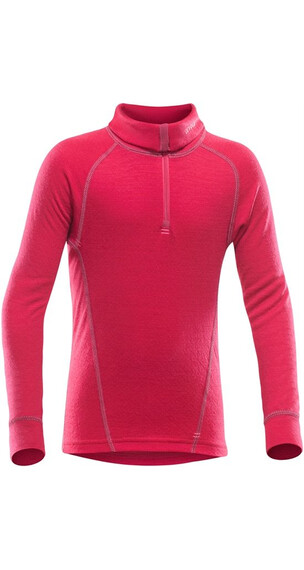 Devold Duo Active Junior Zip Neck Raspberry